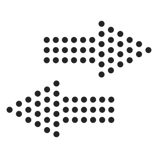 Dotted arrows icon Transparent PNG