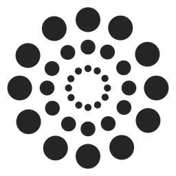 Dotted circles pattern