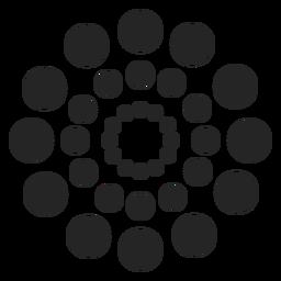 Padrão de círculos pontilhados