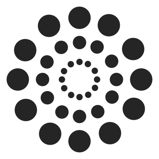 Dotted circles pattern Transparent PNG