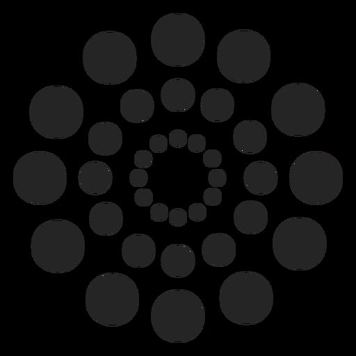 Padrão de círculos pontilhados Transparent PNG