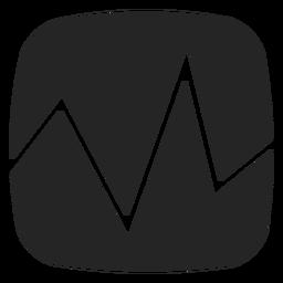 Ícone de pulsação de ECG