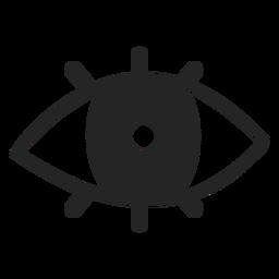 Ícone de olho simples