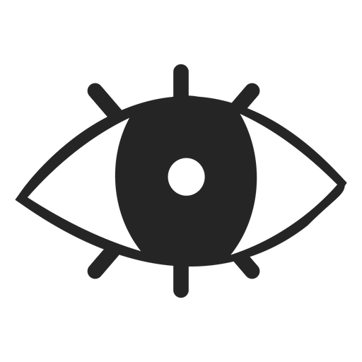 Simple eye icon Transparent PNG