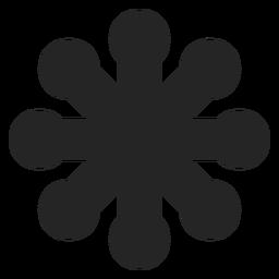 Gráfico floral abstrato