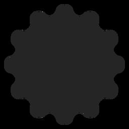 Icono de silhoutte floral abstracto