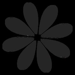 Gráfico simples flor