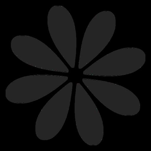Gráfico simples flor Transparent PNG