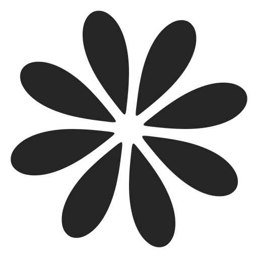 Simple flower graphic Transparent PNG
