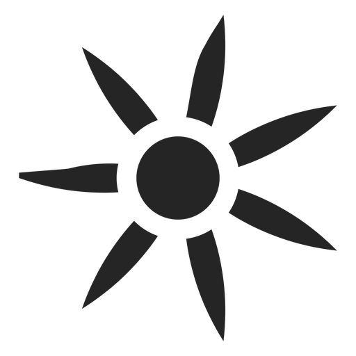 Complex flower icon Transparent PNG