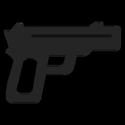 Icono de pistola simple