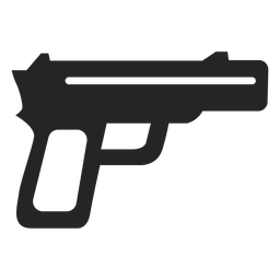 Simple gun icon