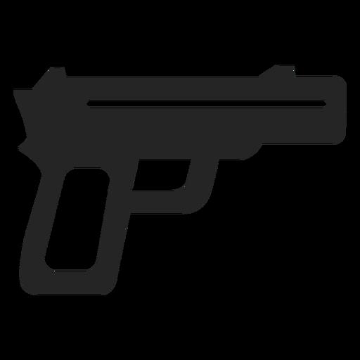 Icono de pistola simple Transparent PNG