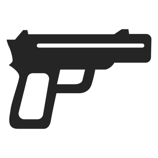 Simple gun icon Transparent PNG