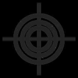 Waffe-Guckloch-Symbol