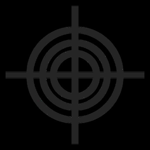 Icono de mirilla de pistola