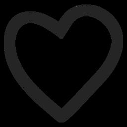 Icono gráfico del corazón