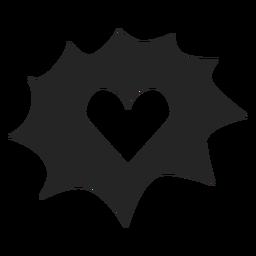 Icono de gráficos del corazón