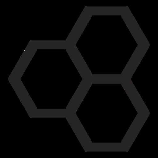 Ícone do hexágono Transparent PNG