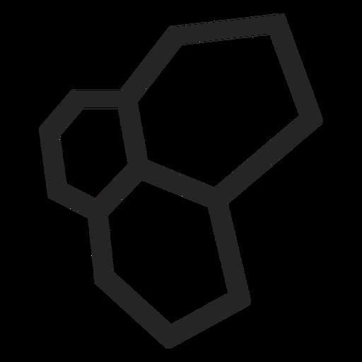Sechseckige Symbolgrafiken Transparent PNG