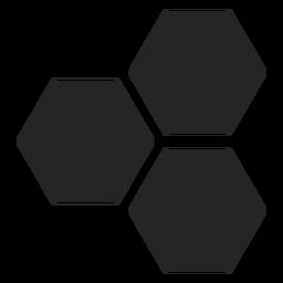 Ícone básico de hexágono