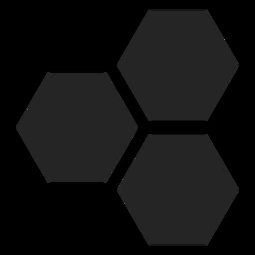 Icono básico del hexágono Transparent PNG