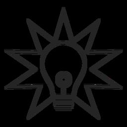 Einfaches Glühbirnen-Symbol