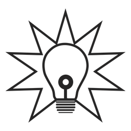 Icono de bombilla simple