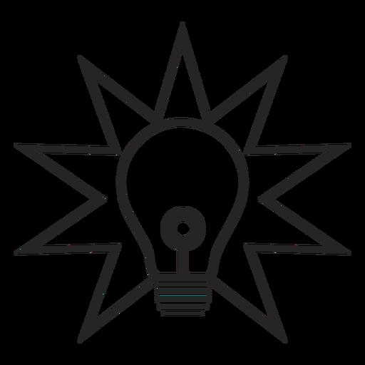 Icono de bombilla simple Transparent PNG