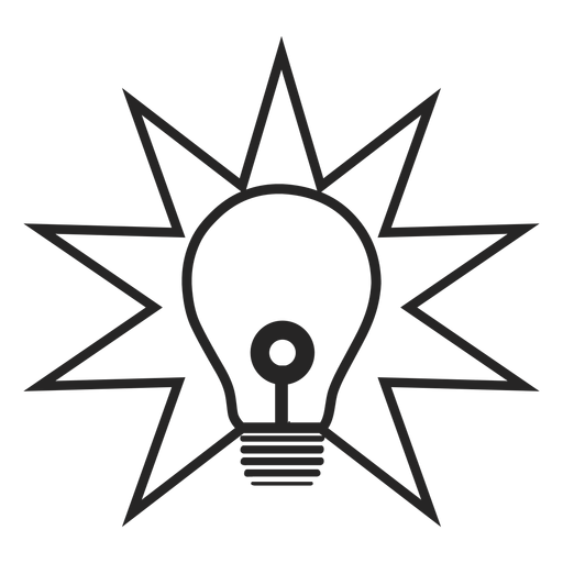 Simple lightbulb icon Transparent PNG