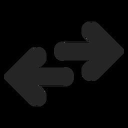 Symbol für entgegengesetzte Richtung