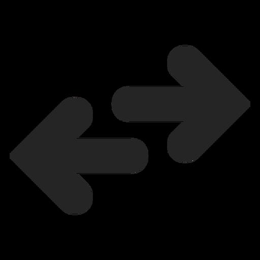 Ícone de direção oposta Transparent PNG