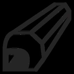 Ícone de lápis de perspectiva