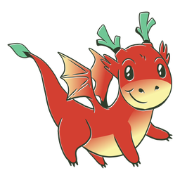 Ilustração de dragão vermelho bebê