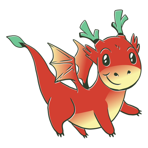 Ilustración de dragón bebé rojo Transparent PNG