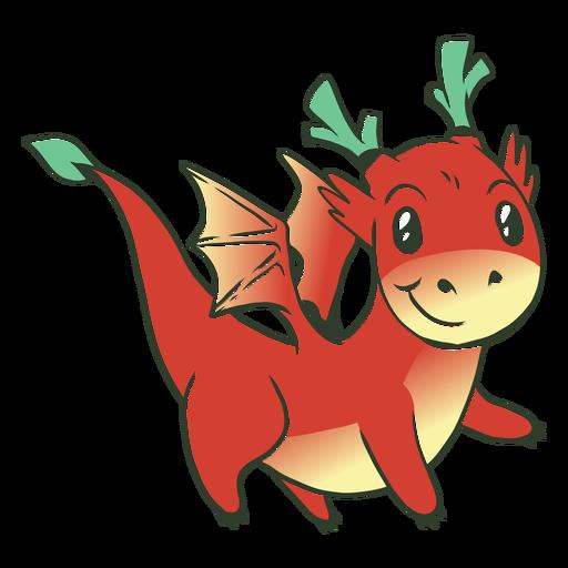 Red baby dragon illustration