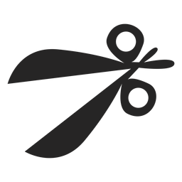 Simple scissors icon