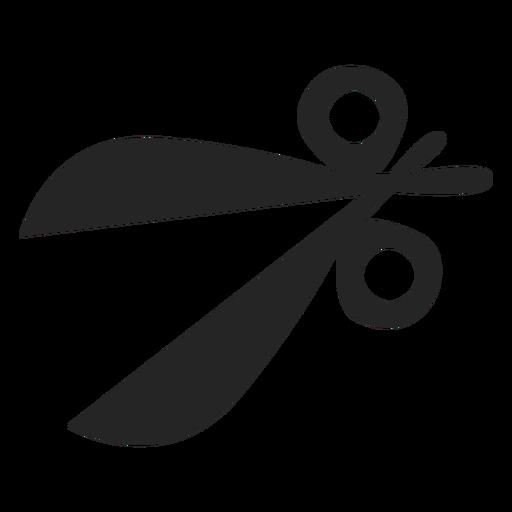 Icono de tijeras simples