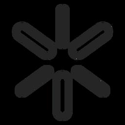 Icono de signo simple