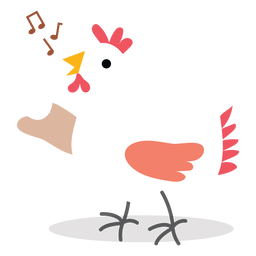 Singing chicken vector
