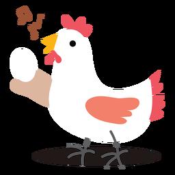 Vetor de frango cantando