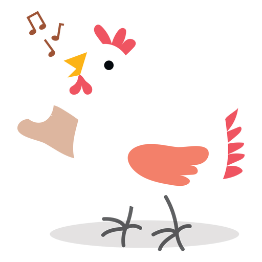 Singing chicken vector Transparent PNG