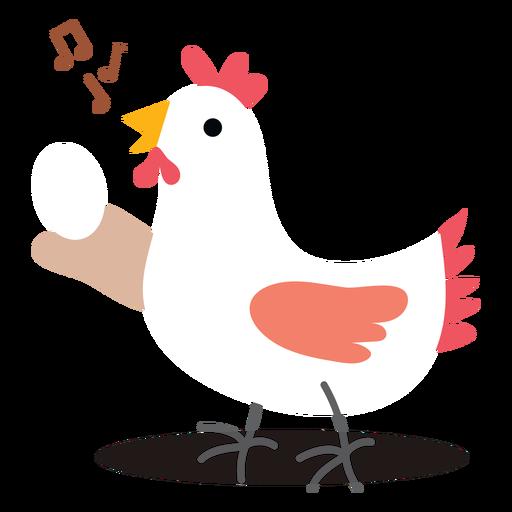 Singing chicken vector