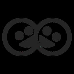 Einfaches Smiley-Symbol