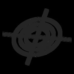Icono de mirilla de francotirador