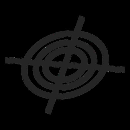 Sniper peephole icon Transparent PNG