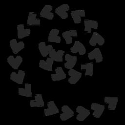 Ícones de setas em espiral