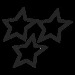 Icono de estrellas simples