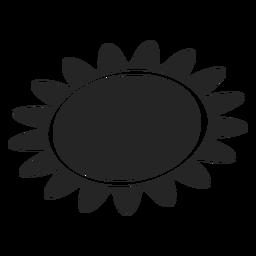 Icono básico de sol