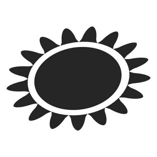 Ícone básico do sol Transparent PNG